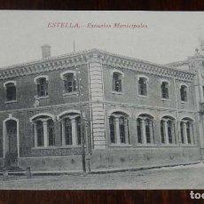 Postales: ESTELLA (NAVARRA) ESCUELAS MUNICIPALES, L. PEREZ EDITOR, SIN CIRCULAR. Lote 151640606