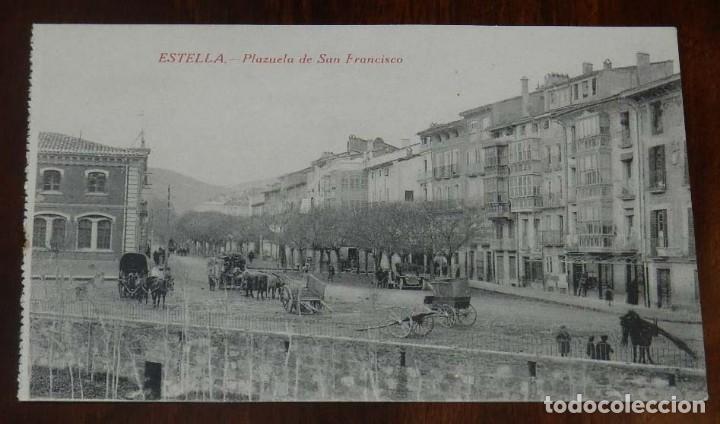 ESTELLA (NAVARRA) PLAZUELA DE SAN FRANCISCO, L. PEREZ EDITOR, SIN CIRCULAR (Postales - España - Navarra Moderna (desde 1.940))
