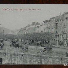 Postales: ESTELLA (NAVARRA) PLAZUELA DE SAN FRANCISCO, L. PEREZ EDITOR, SIN CIRCULAR. Lote 151641110