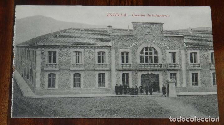 ESTELLA (NAVARRA) CUARTEL DE INFANTERIA, L. PEREZ EDITOR, SIN CIRCULAR (Postales - España - Navarra Moderna (desde 1.940))