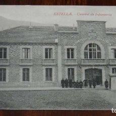 Postales: ESTELLA (NAVARRA) CUARTEL DE INFANTERIA, L. PEREZ EDITOR, SIN CIRCULAR. Lote 151641446