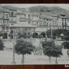 Postales: ESTELLA (NAVARRA) PLAZA DE LOS FUEROS, L. PEREZ EDITOR, SIN CIRCULAR. Lote 151642366