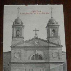 Postales: ESTELLA (NAVARRA) PARROQUIA DE SAN JUAN BAUTISTA, L. PEREZ EDITOR, SIN CIRCULAR. Lote 151644586