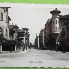 Postales: PAMPLONA. 52 CALLE ARRIETA. ED. ARRIBAS. NUEVA. COLOR. Lote 152000678