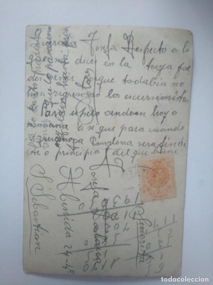 Postales: Postal Encierro San Fermín Pamplona Década de 1920 sello Alfonso XIII - Foto 2 - 152521230