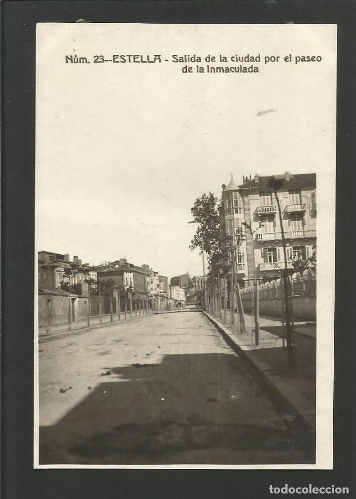 ESTELLA-LIZARRA-SALIDA DE LA CIUDAD POR EL PASEO LA INMACULADA-FOTOGRAFICA-POSTAL ANTIGUA-(57.328) (Postales - España - Navarra Antigua (hasta 1.939))
