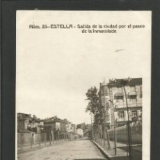 Postales: ESTELLA-LIZARRA-SALIDA DE LA CIUDAD POR EL PASEO LA INMACULADA-FOTOGRAFICA-POSTAL ANTIGUA-(57.328). Lote 153231930