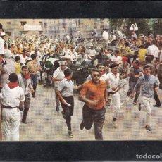 Postales: PAMPLONA 24. FIESTAS DE SAN FERMIN. EL ENCIERRO. Lote 154595550