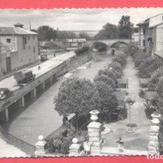 Postales: TUDELA- 5 . PASEO GENERALISIMO FRANCO, EDICIONES SICILIA, SIN CIRCULAR,VER FOTOS. Lote 155151022