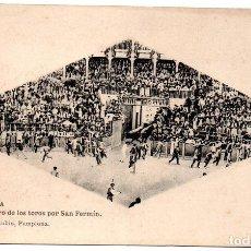 Postales: PS8136 PAMPLONA 'ENCIERRO DE LOS TOROS'. VIUDA DE RUBIO. SIN CIRCULAR. PRINC. S. XX. Lote 155768142
