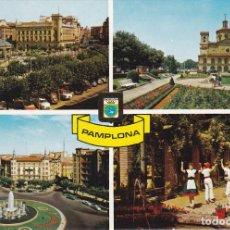 Postales: PAMPLONA, PLAZA DEL CAUDILLO, MTO. A LA INMACULADA, NAVARRA. Lote 155781326
