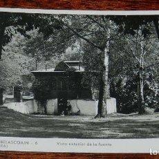 Postales: FOTO POSTAL DEL BALNEARIO DE BELASCOAIN (NAVARRA), 6 VISTA EXTERIOR DE LA FUENTE, GUILERA, CIRCULADA. Lote 156091082
