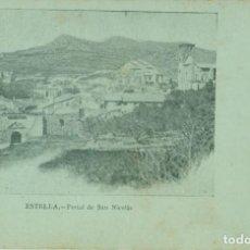 Postales: ESTELLA PORTAL DE SAN NICOLÁS. HACIA 1900. MUY RARA.. Lote 156312138