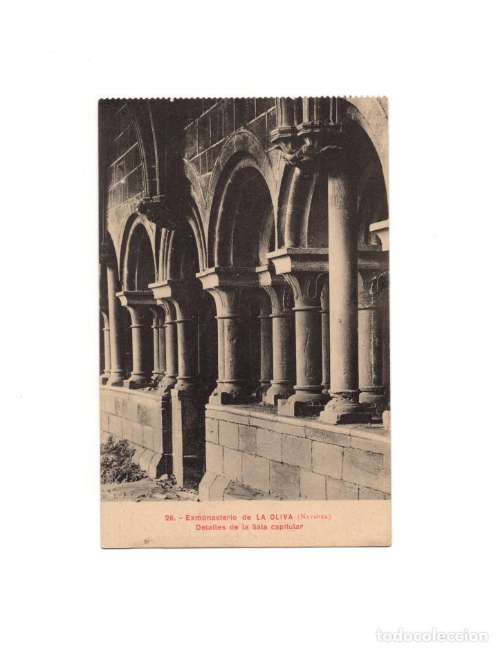 NAVARRA.- EXMONASTERIO DE LA OLIVA. DETALLES DE LA SALA CAPITULAR (Postales - España - Navarra Antigua (hasta 1.939))