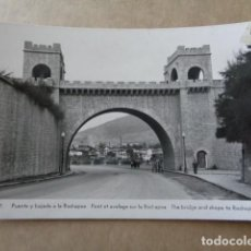 Postales: PAMPLONA. PUENTE Y BAJADA A LA ROCHAPEA. . Lote 156571130
