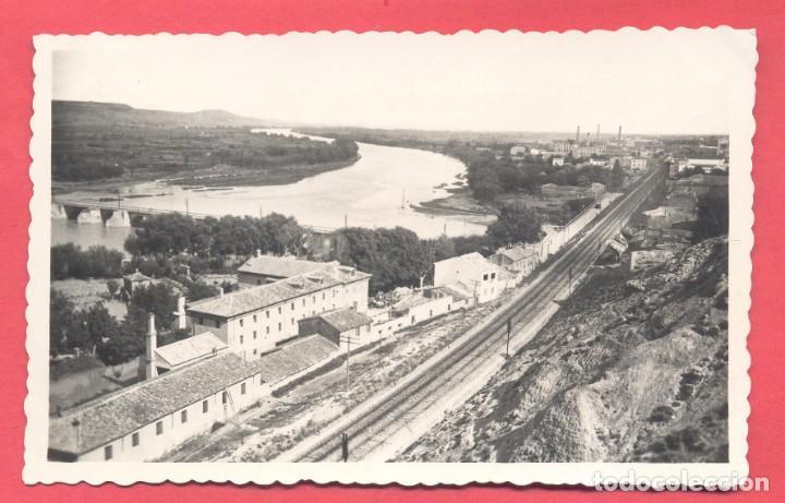TUDELA -34. VISTA PARCIAL, EDICIONES DARVI, CIRCULADA 1952, VER FOTOS (Postales - España - Navarra Moderna (desde 1.940))