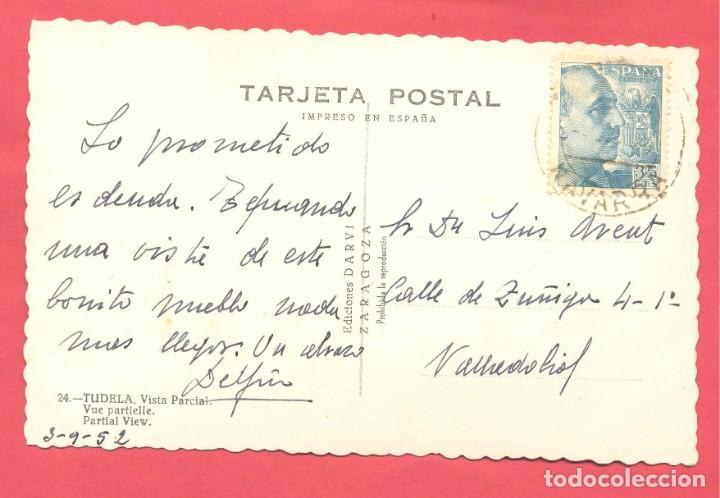 Postales: tudela -34. vista parcial, ediciones darvi, circulada 1952, ver fotos - Foto 2 - 156664270