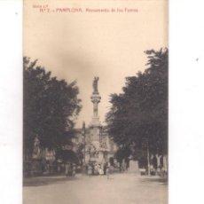Postales: POSTAL DE PAMPLONA - MONUMENTO DE LOS FUEROS .. Lote 157703042
