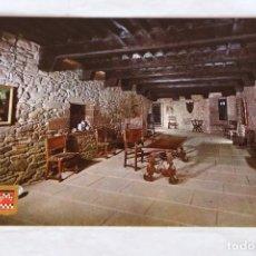 Postales: CASTILLO DE JAVIER. 5 SALA PRINCIPAL. ESCUDO DE ORO. NUEVA. COLOR. Lote 157875258