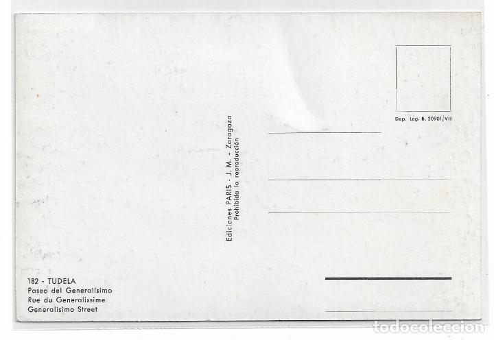 Postales: TUDELA - PASEO DEL GENERALÍSIMO - EDICIONES PARIS - P28542 - Foto 2 - 158126378