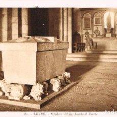 Postales: LEYRE, SEPULCRO DEL REY SANCHO EL FUERTE. ROISIN Nº 80. Lote 159660534