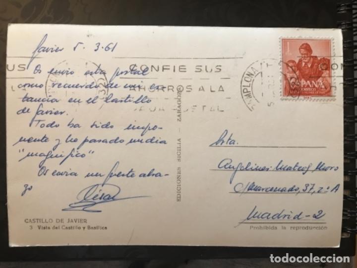 Postales: castillo de javier vista del castillo y basilica ed sicilia buena postal navarra - Foto 2 - 159714250