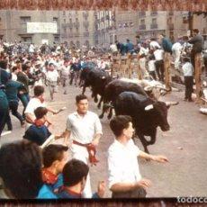 Postales: PAMPLONA - FIESTAS DE SAN FERMIN - ENCIERRO. Lote 161211422