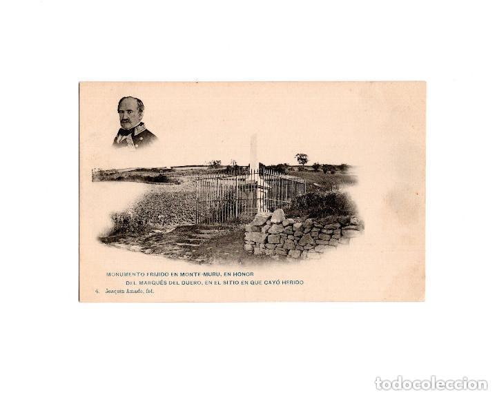 MONTE MURU.(NAVARRA).- MONUMENTO ERIJIDO EN MONTE MURU EN HONOR DEL EL MARQUÉS DEL DUERO. (Postales - España - Navarra Antigua (hasta 1.939))