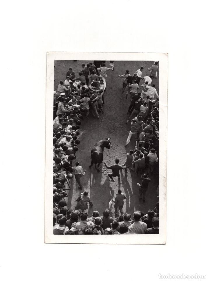 PAMPLONA.(NAVARRA).- ENCIERRO DE SAN FERMÍN. GALLE FOTÓGRAFO. (Postales - España - Navarra Antigua (hasta 1.939))