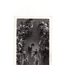 Postales: PAMPLONA.(NAVARRA).- ENCIERRO DE SAN FERMÍN. GALLE FOTÓGRAFO.. Lote 165120790