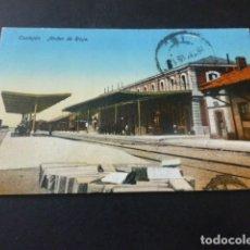 Postales: CASTEJON NAVARRA ESTACION DEL FERROCARRIL ANDEN DE RIOJA. Lote 165488146