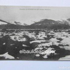 Postales: MONTAÑAS DE RONCESVALLES NEVADAS NAVARRA. COLEGIATA DE RONCESVALLES. S/C. CCTT. Lote 165859058
