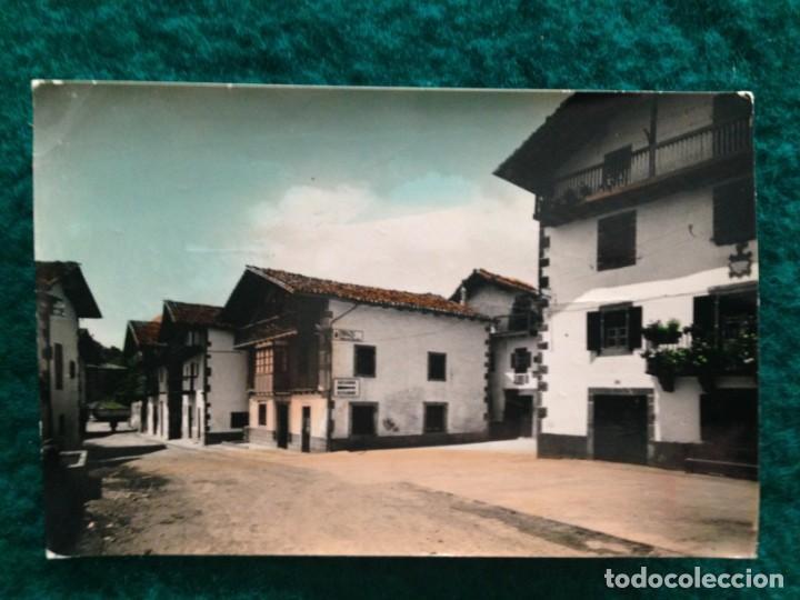 ERRAZU. 7 CARRETERA DE FRANCIA. EDICIONES SICILIA. ORIGINAL, BRILLO, COLOREADA. ESCRITA 1969 (Postales - España - Navarra Moderna (desde 1.940))