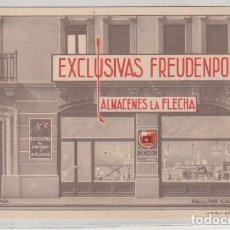 Postales: PAMPLONA. EXCLUSIVAS FREUDENPOR. PAULINO CABALLERO Nº 2. ALMACENES LA FLECHA. BICICLETAS, RADIO.. Lote 166023950