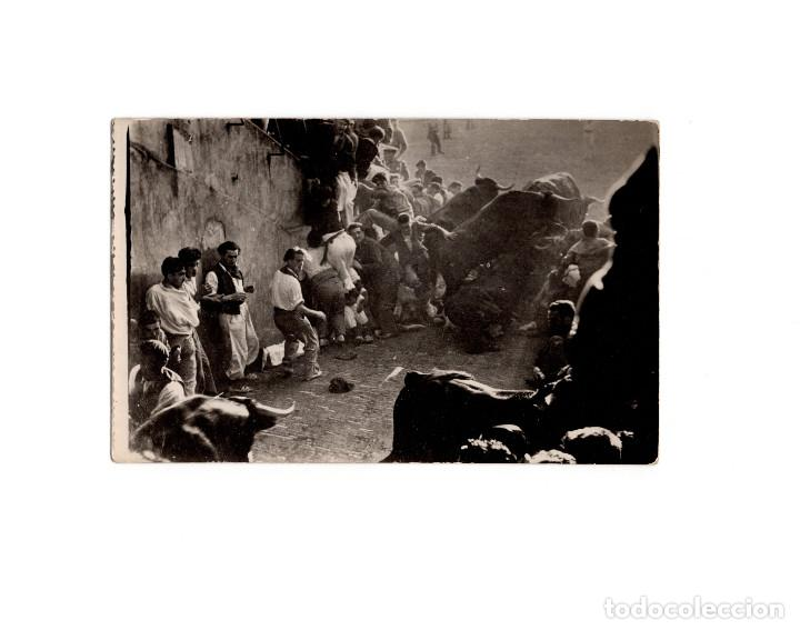 Postales: PAMPLONA.(NAVARRA).- SANFERMINES. 6 POSTALES FOTOGRÁFICAS. ZUBIETA Y RETEGUI. - Foto 5 - 166043934