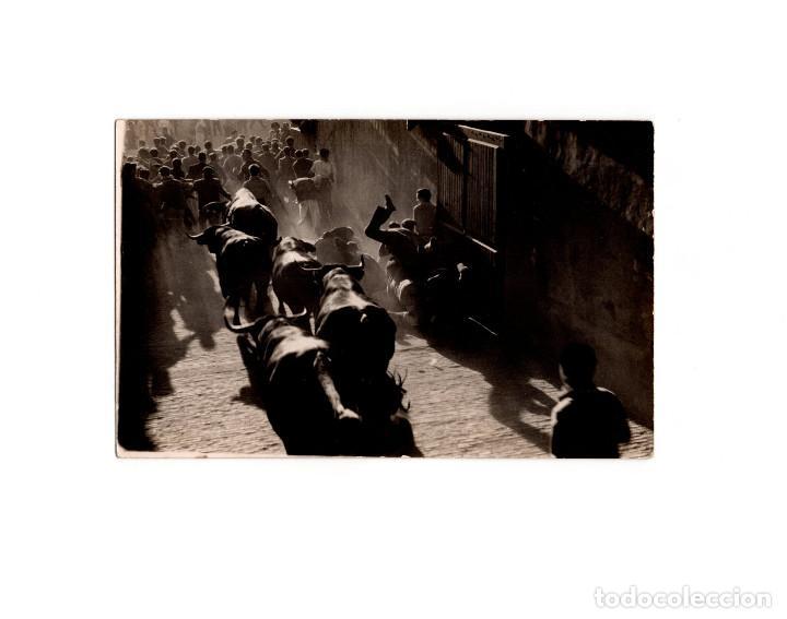 Postales: PAMPLONA.(NAVARRA).- SANFERMINES. 6 POSTALES FOTOGRÁFICAS. ZUBIETA Y RETEGUI. - Foto 6 - 166043934