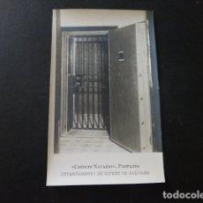 Postales: PAMPLONA NAVARRA BANCO CREDITO NAVARRO DEPARTAMENTO DE COFRES DE ALQUILER POSTAL FOTOGRAFICA. Lote 166095574
