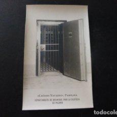 Postales: PAMPLONA NAVARRA BANCO CREDITO NAVARRO DEPARTAMENTO DE SEGURIDAD CUSTODIA VALORES POSTAL FOTOGRAFICA. Lote 166095902
