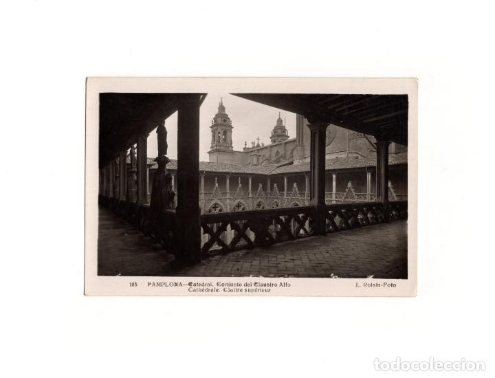 PAMPLONA.(NAVARRA).- CATEDRAL CONJUNTO DEL CLAUSTRO ALTO. (Postales - España - Navarra Antigua (hasta 1.939))