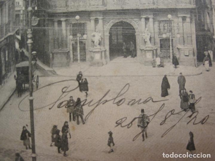 Postales: PAMPLONA-PLAZA Y CASA CONSISTORIAL-4-ED·VDA.ROLDAN-VER FOTOS-(60.415) - Foto 2 - 168196776