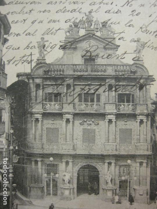 Postales: PAMPLONA-PLAZA Y CASA CONSISTORIAL-4-ED·VDA.ROLDAN-VER FOTOS-(60.415) - Foto 3 - 168196776