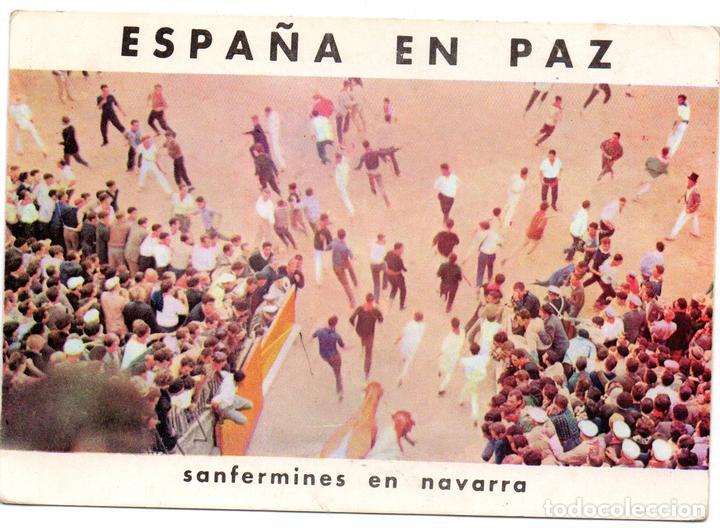 PS8193 ESPAÑA EN PAZ 'SANFERMINES EN NAVARRA'. ALAS-OMNIA. ESPAÑA. AÑOS 60 (Postales - España - Navarra Moderna (desde 1.940))
