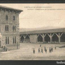 Postales: CASTILLO DE JAVIER-PATIOS Y COBERTIZOS-ESCUELA APOSTOLICA-HAUSER Y MENET-POSTAL ANTIGUA-(60.849). Lote 168957080