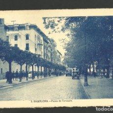 Postales: PAMPLONA-PASEO DE SARASATE-POSTAL ANTIGUA-(60.855). Lote 168958280