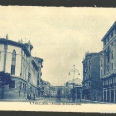 Postales: PAMPLONA-AVENIDA DE RONCESVALLES-POSTAL ANTIGUA-(60.858). Lote 168959396