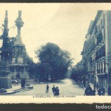 Postales: PAMPLONA-PASEO DE SARASATE-POSTAL ANTIGUA-(60.860). Lote 168960376