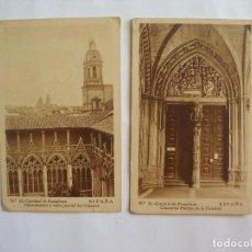 Postales: DOS POSTALES CATEDRAL DE PAMPLONA ARTE BILBAO. Lote 169426920