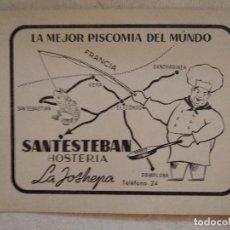 Postales: PAMPLONA SANTESTEBAN HOSTERIA LA JOSHEPA. . Lote 169825728