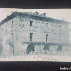 Postales: ELIZONDO NAVARRA CASA CONSISTORIAL FOT. LAURENT. Lote 171596247