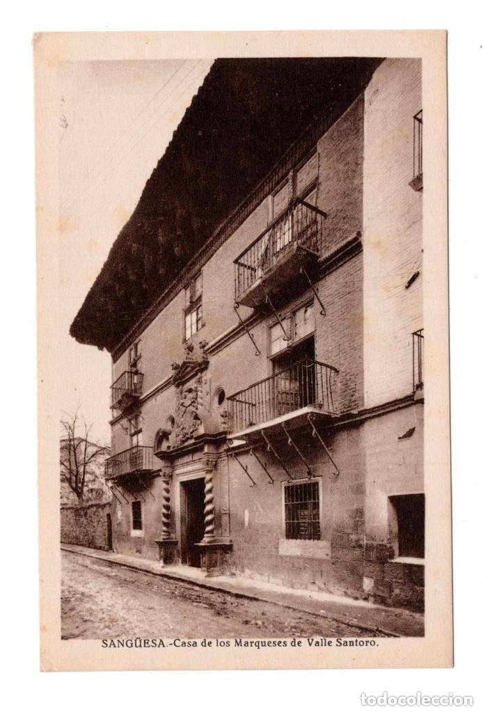 SANGÜESA (NAVARRA), CASA DE LOS MARQUESES DE VALLE SANTORO - ED.E.ALMIRALL, CLIXE L. ROISIN (Postales - España - Navarra Antigua (hasta 1.939))